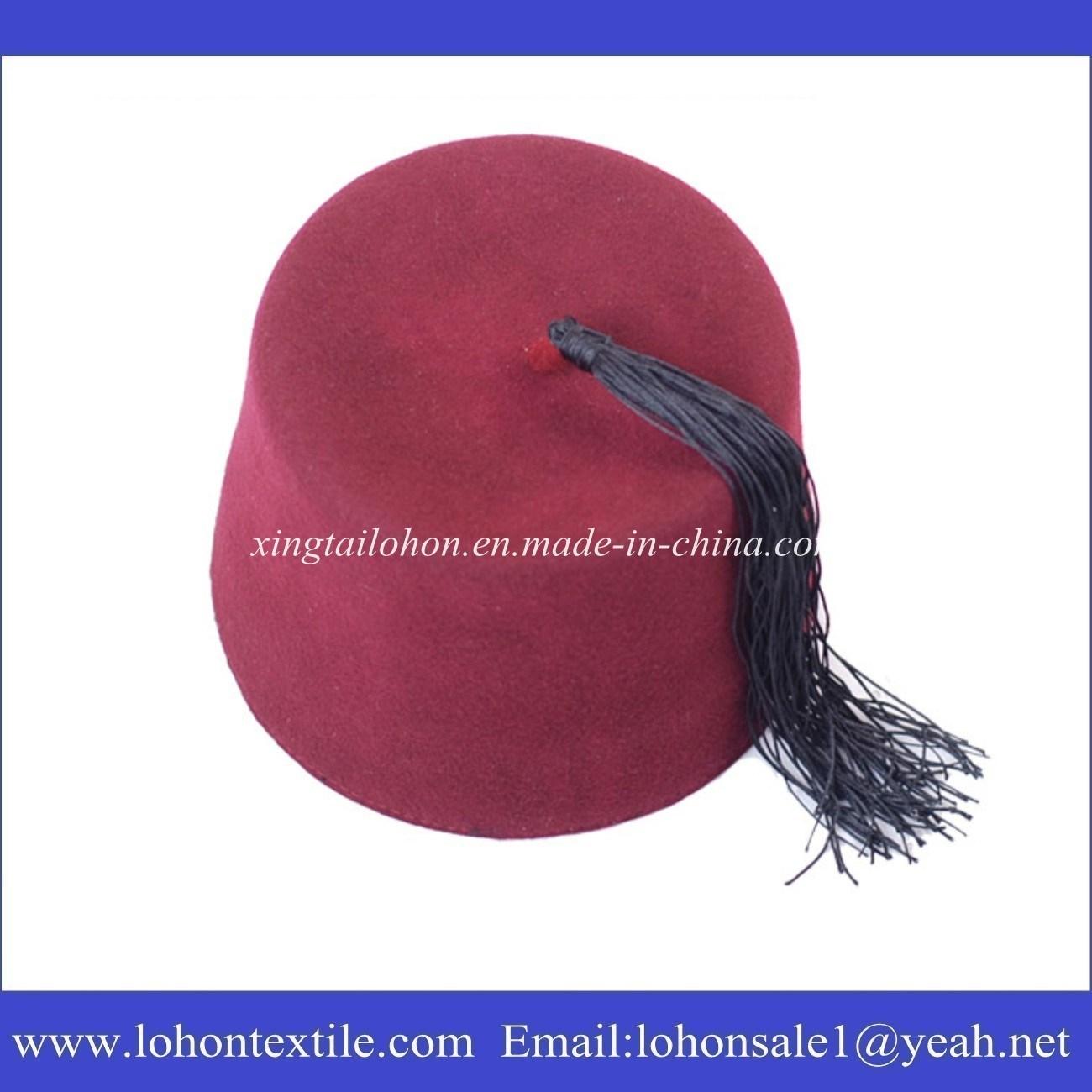 [Hot Item] Muslim Fez Cap Turkish Prayer Hat with Tassel for Middleast Man