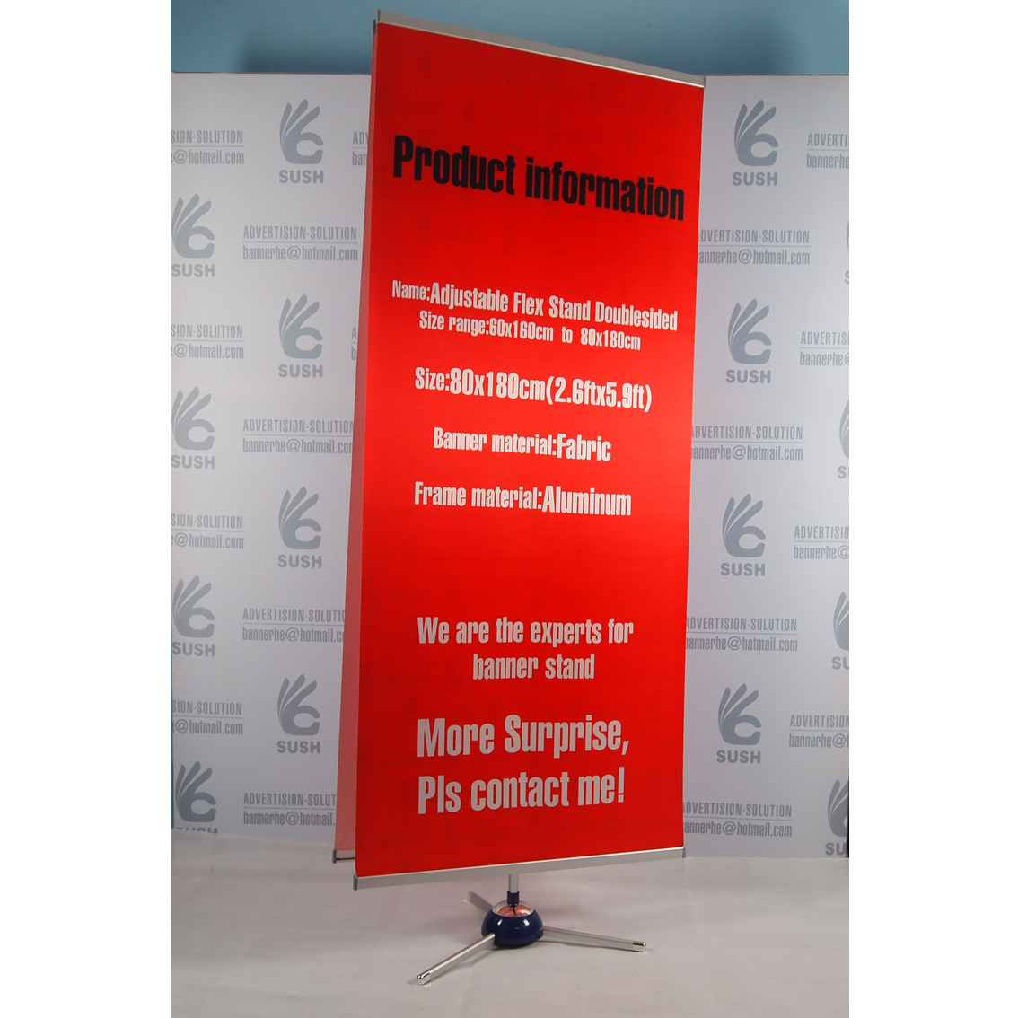 Advertising Easy Change Fabric Display Banner Stand (80X180) pictures & photos