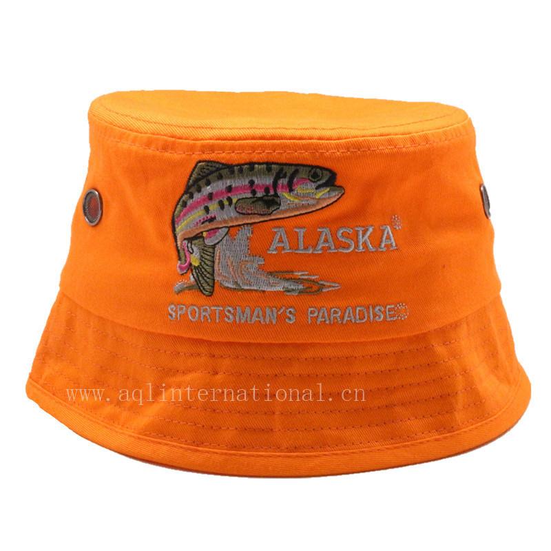 9872fb7702b Custom 100% Cotton Embroidery Fashion Kids Bucket Hat Children Bucket Hat  Wholesale