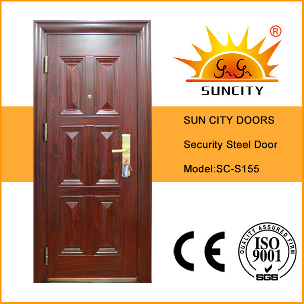 China Safety Front Iron Door Design With Grill Sc S155 China