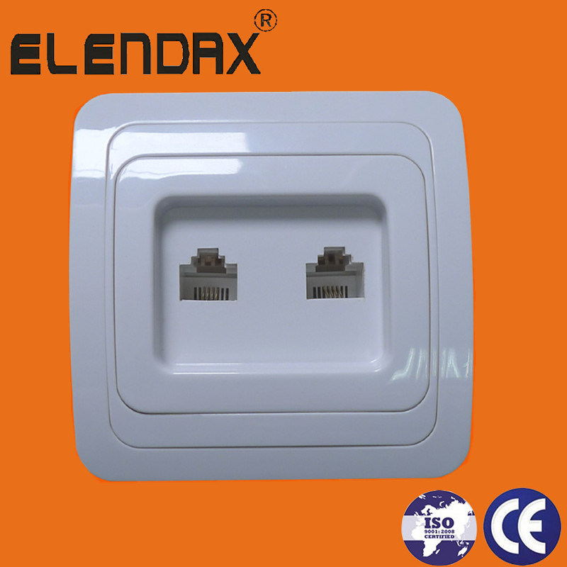 Electrical Wall Socket Outlet/Isreal White