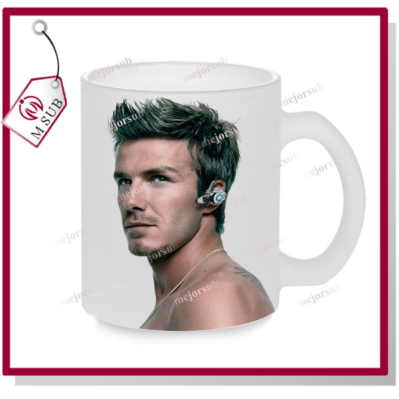 11oz Sublimation Photo Printed Frosted Clear Glass Mug