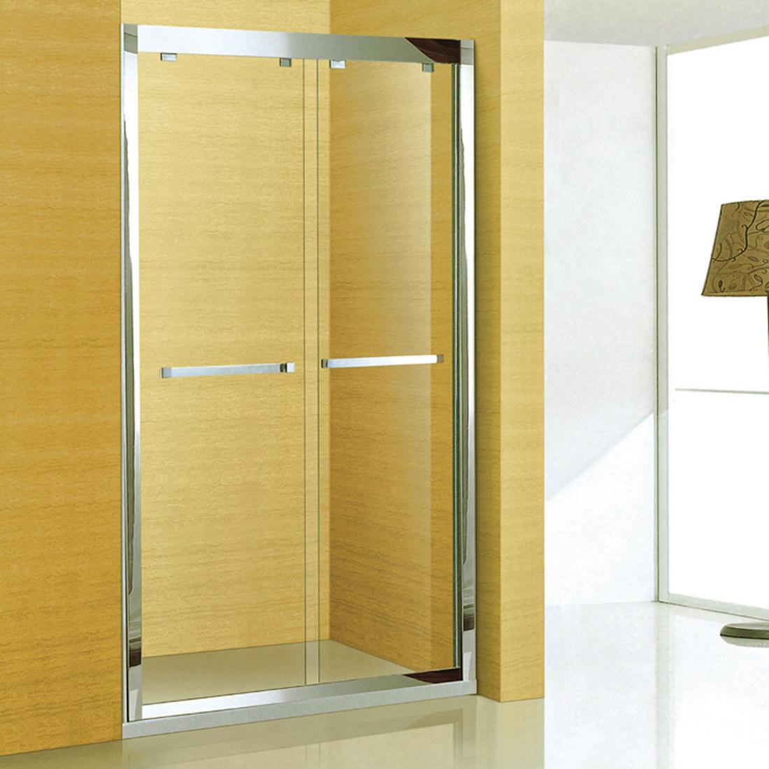 Sanitry Ware 304 Stainless Steel Frame Bathroom Shower Screen (A-8955)