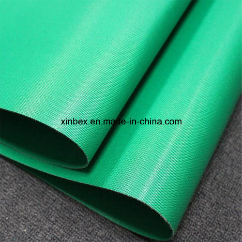 Fabric/Fiber/Cotton Polyester Green PVC/PU Double Industrial Conveyor Belt pictures & photos