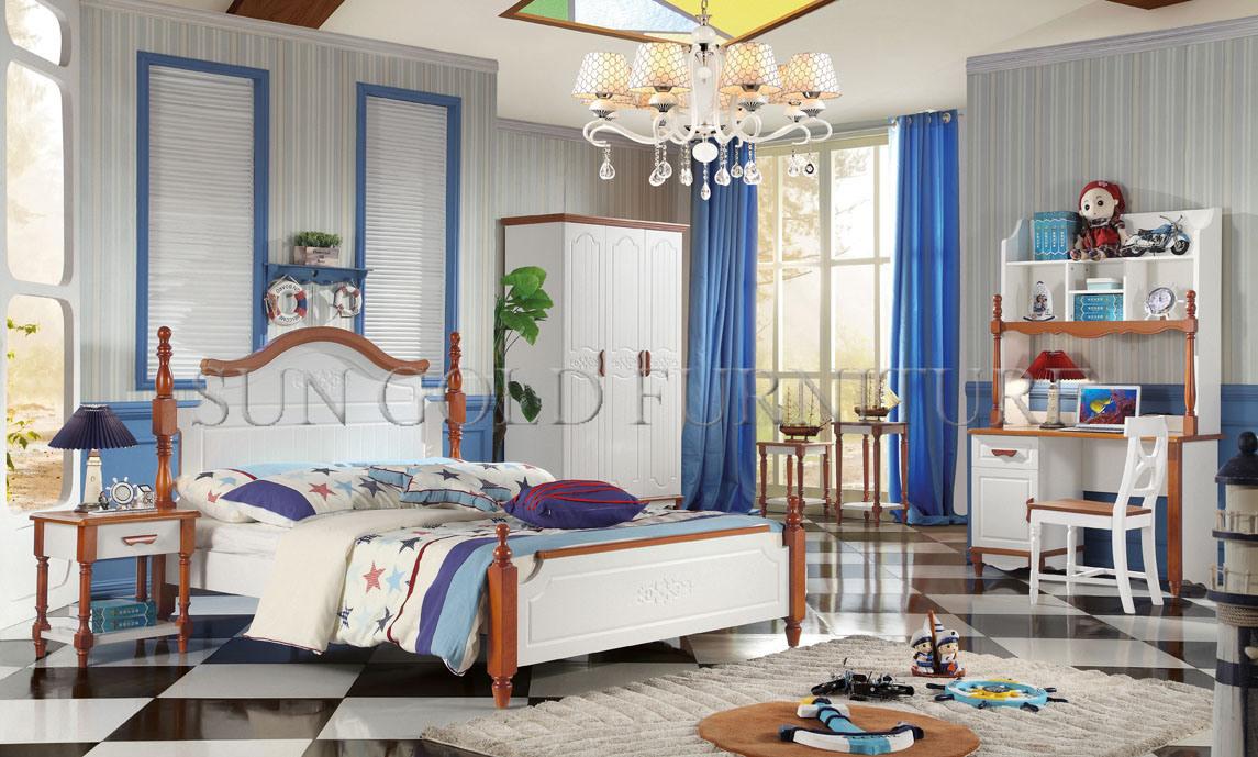 huge discount 2f0d1 169a9 [Hot Item] Furniture Bedroom Double Bed Design Used Kids Bedroom Sets  (SZ-BT905)