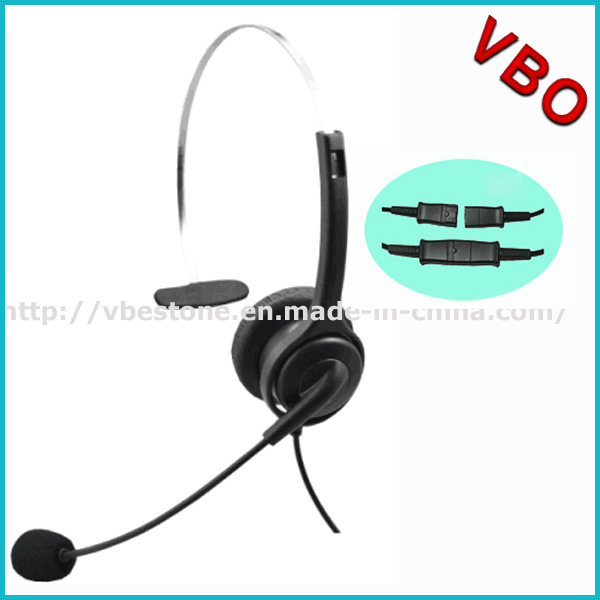 2016 New Design Headband Style Noise Cancelling Microphone Call Center USB VoIP Headset pictures & photos