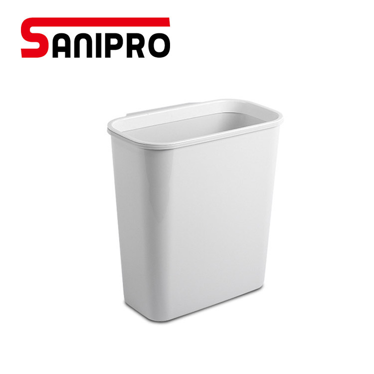 Household Supplies Cleaning Wastebasket Plastic Garbage Trash Bin Can For Office Home Bedroom Grey S Home Garden Mbln Org