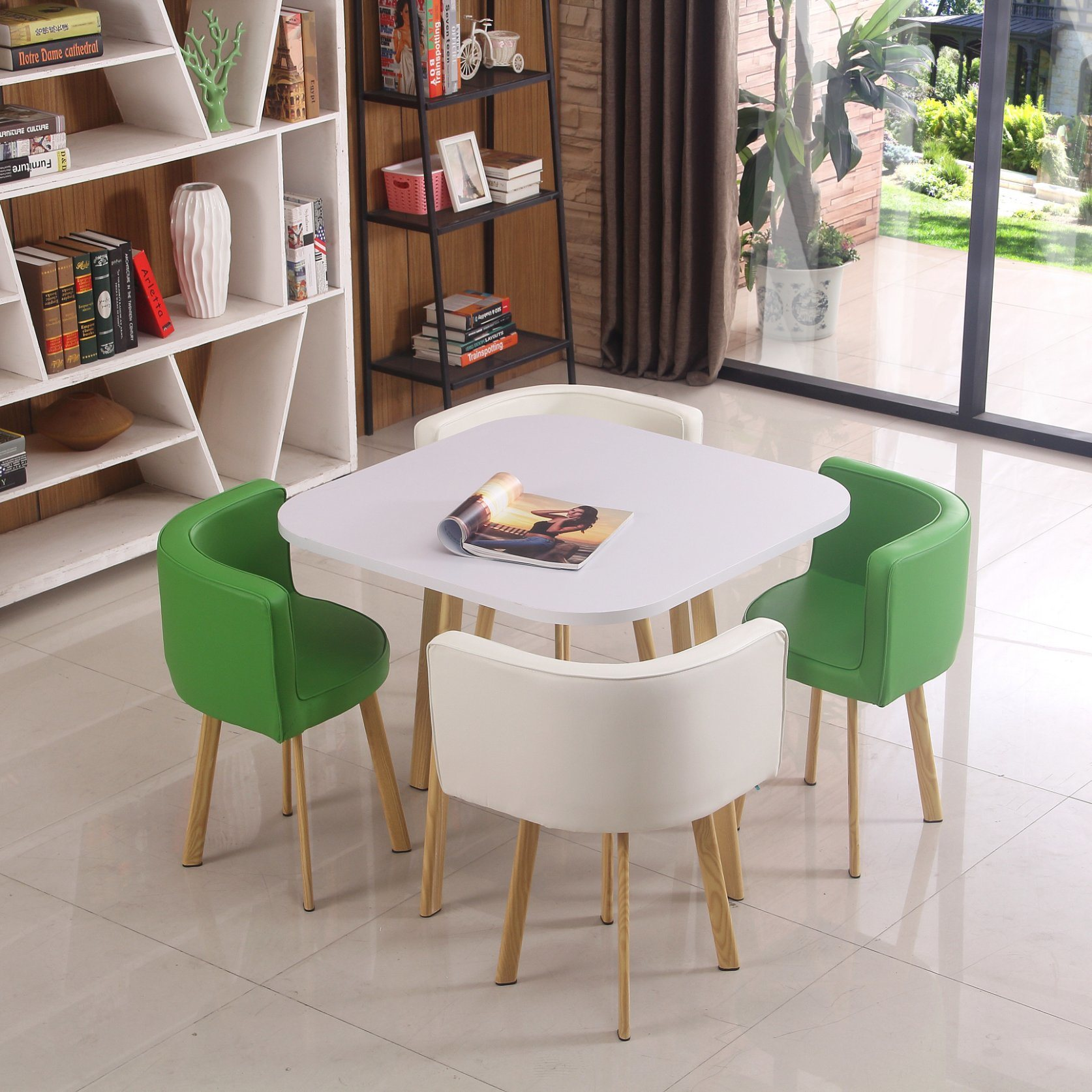 China Luxury Design Home Furniture Modern Marble Dining Table Set 4 Chairs New Design Home Furniture Modern Wooden 4 Chair Long Rectangular Dining Room Table Set China Melamine Table Sets Dining Room Furniture