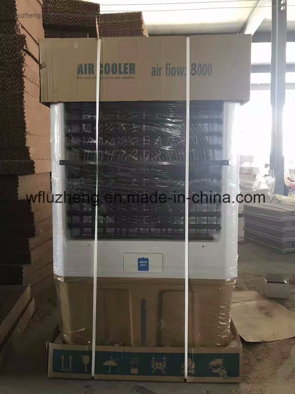 China Air to Water Cooling Fin Tube Heat Exchanger with Draught Fan