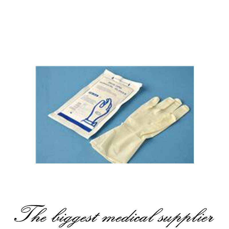 Disposable Sterile Powdered Latex Surgical Gloves pictures & photos