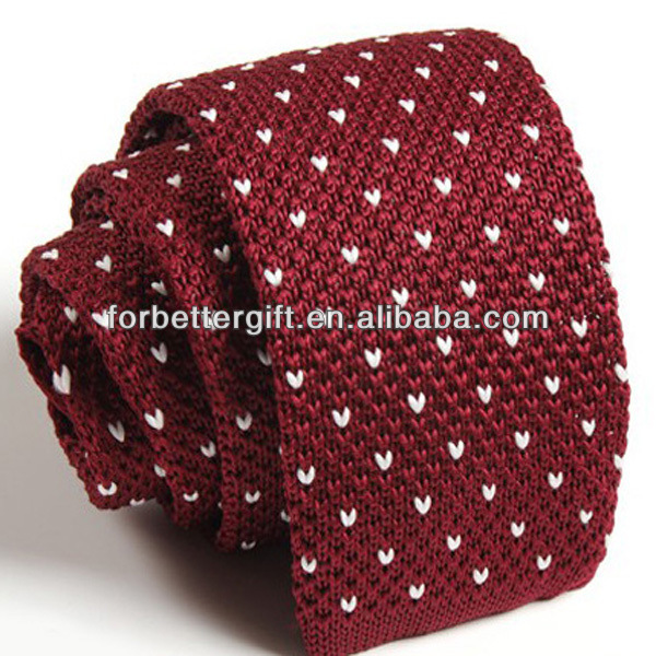 China Wholesale Polyester Knitted Ties In Stock China Polyester