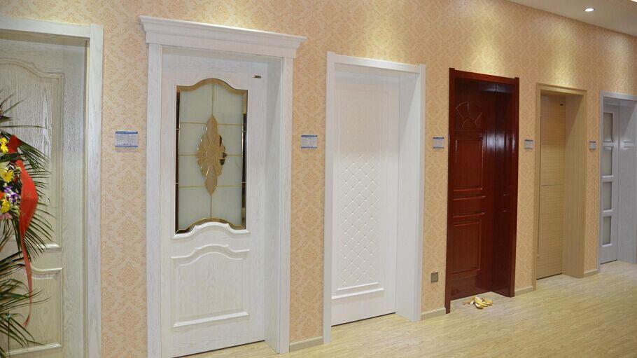 China Timber Wooden Interior Safety Door Glass Door Moving Door