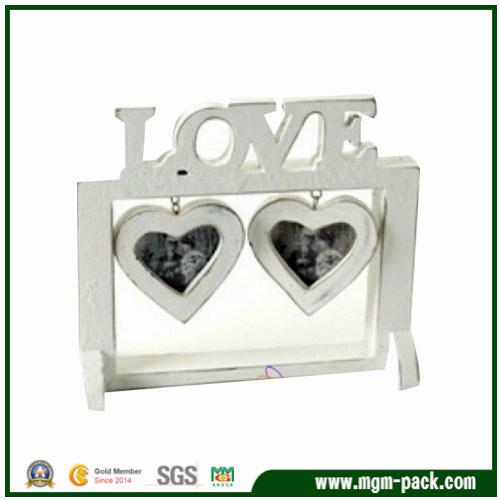 China Antique Heart-Shaped White Craft Wooden Photo Frames - China ...