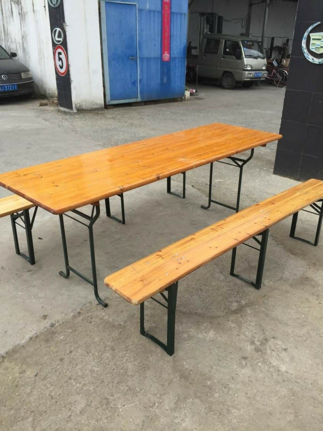 Awe Inspiring Hot Item High Quality Wood Beer Table Set Beer Table And Benches Creativecarmelina Interior Chair Design Creativecarmelinacom