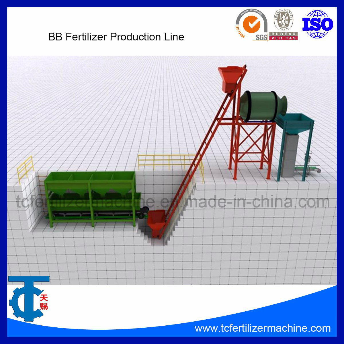 China Bb/Bulk Blending Fertilizer Equipment Used in Mixing Production Line  - China NPK Mixer Machine, Bb Mixer Machine