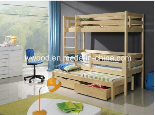 UK Standard 3FT Single Wooden Bunk Bed-Triple Bed pictures & photos