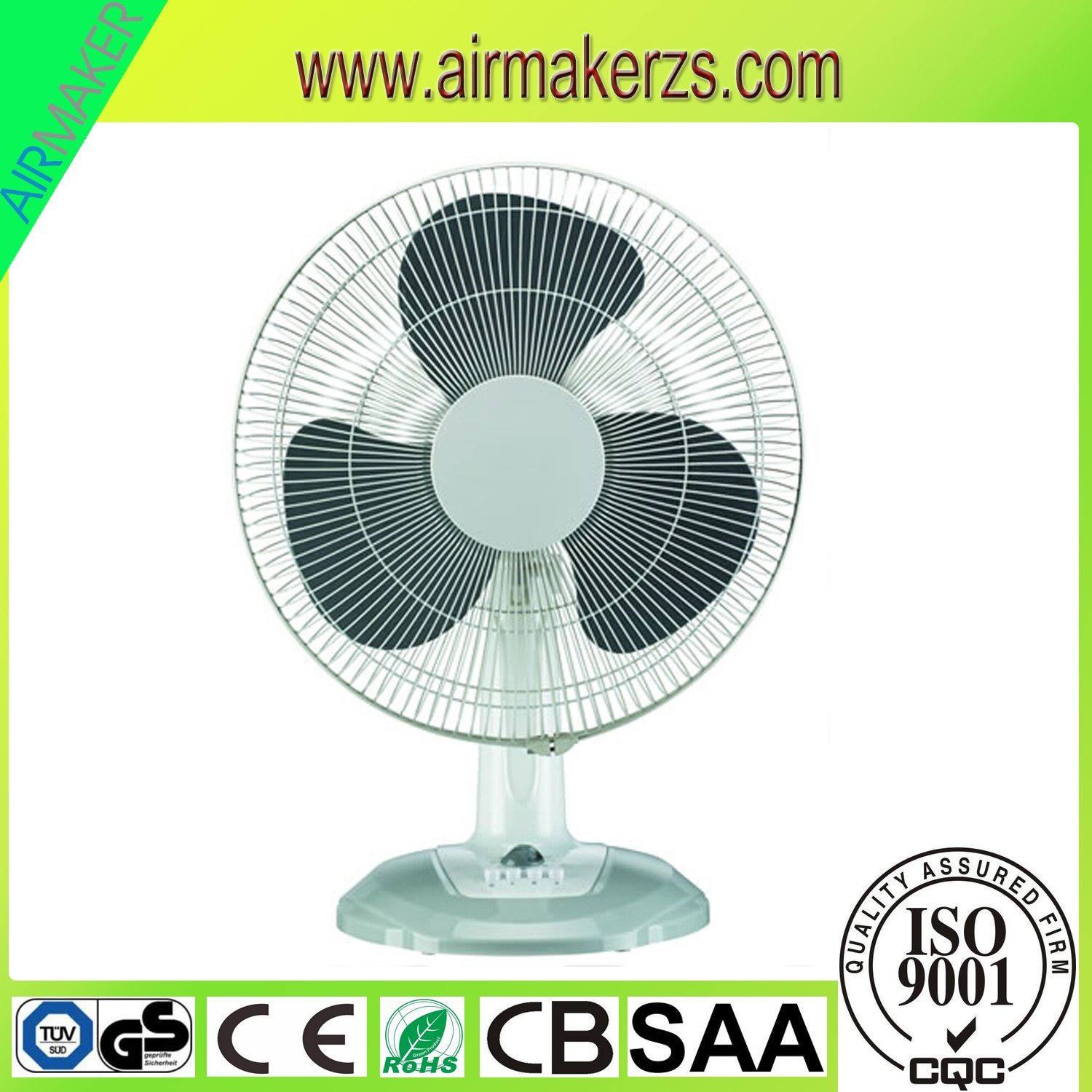 China 16 Inch Oscillating Desk Fan For Home Office With Cb Ce Electric Plastic