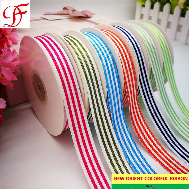 China Factory Stripe Ribbon Double Single Face Satin Grosgrain Gingham Taffeta Hemp Satin Center Edge Organza Ribbon With Many Colors Stripes Mix China Stripe Ribbon And Wrapping Ribbon Price