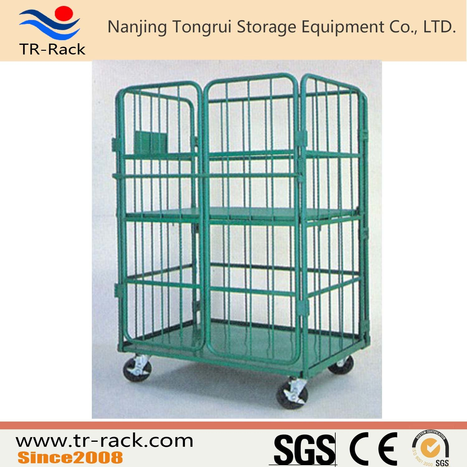 China Warehouse Storage Wire Cage Logistic Trolley - China Hand Cart ...