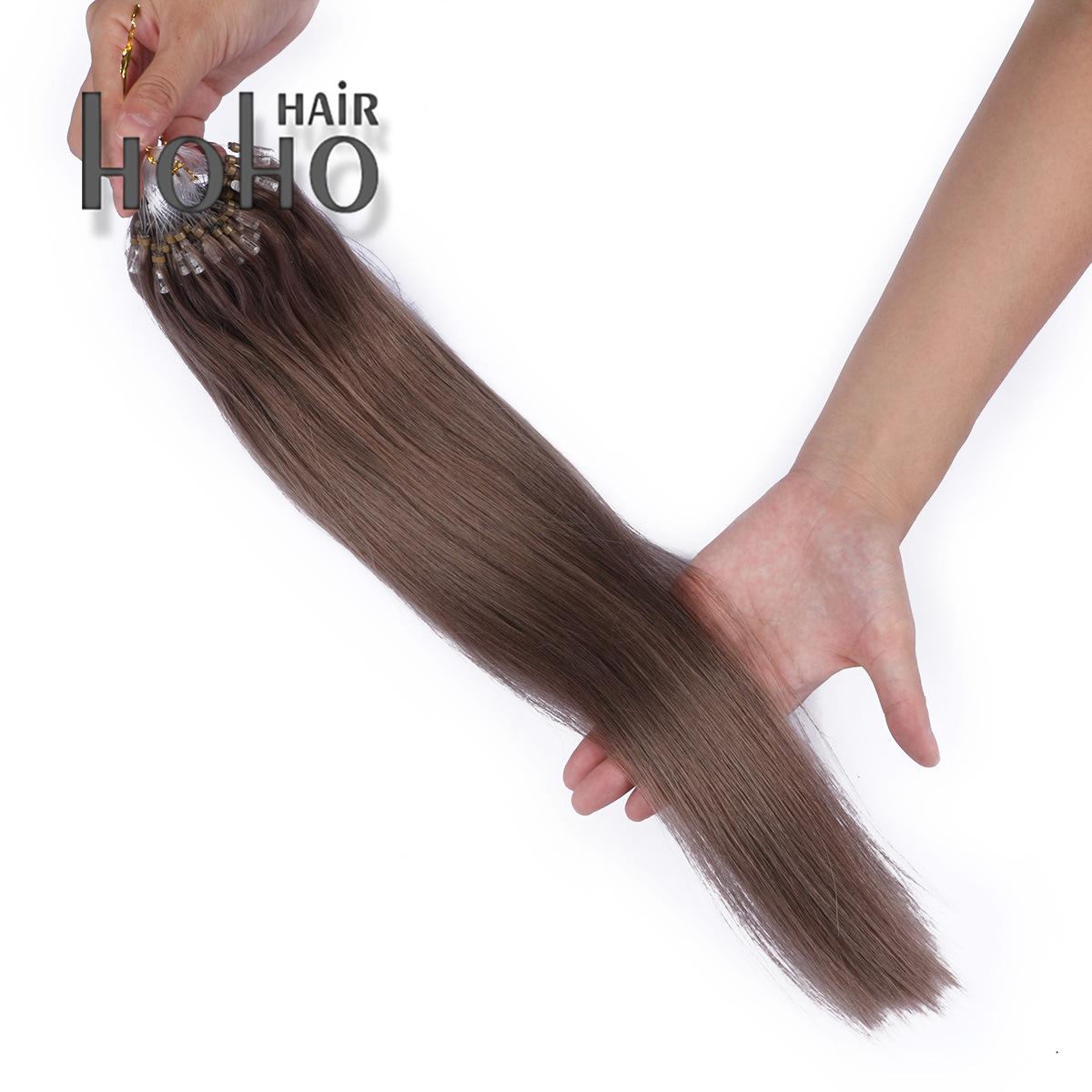 China Brazilian Remy Hair 18 Inch Borwn Micro Loop Hair Extension