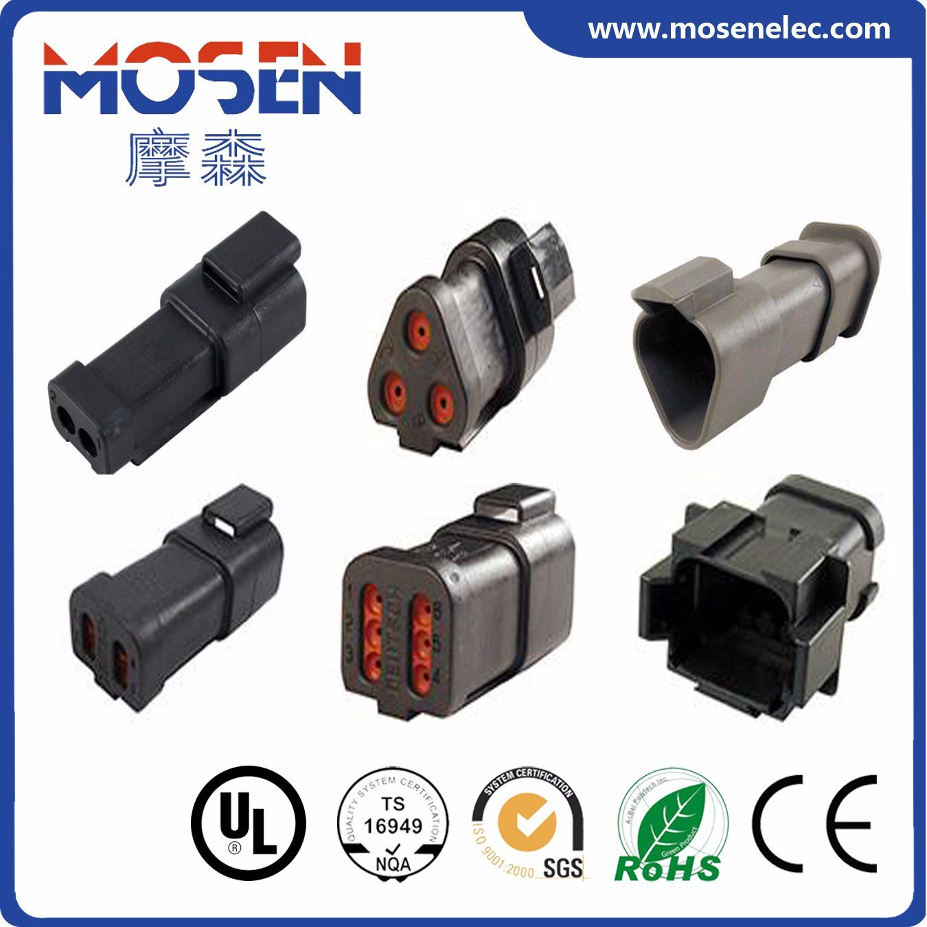 China Deutsch Auto Wire Connector Electrical Dt06 2s Harness 3s 4s 6s 8s 12s Cwhao7a Wiring For Car With Approvals