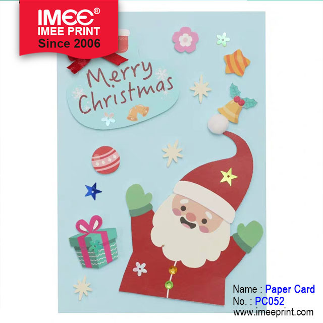 China Imee Three Dimensional Design Hand Made Greeting Cards Christmas Card China Gift Card Customized Paper Card