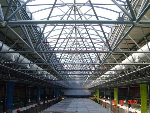 China Steel Structure Space Frame System Market Shopping