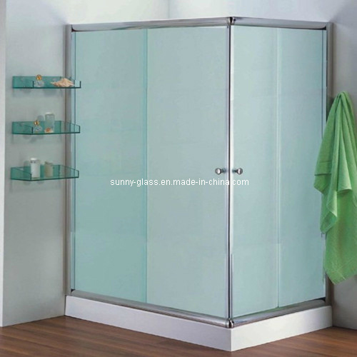 China Tempered Decorative Frosted Glass Acid Etched Shower