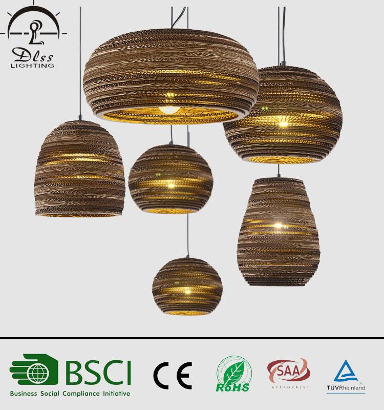 Corrugated Paper Hanging Pendant Lights