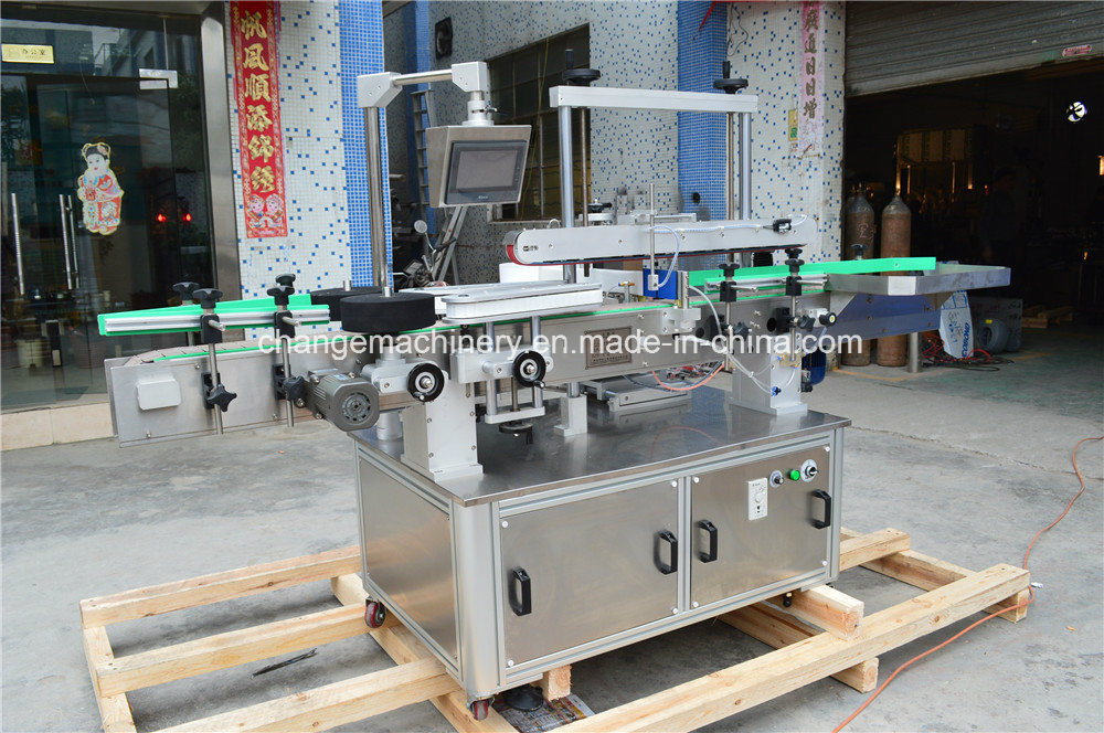 Flat Bottle Double Sides Labeling Machine for Various Flat Square Bottle Jar pictures & photos