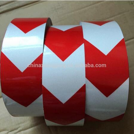 5cm Width High Intensity Grade Glass Beads Reflective Red Arrow Tape for Road Safety Sign