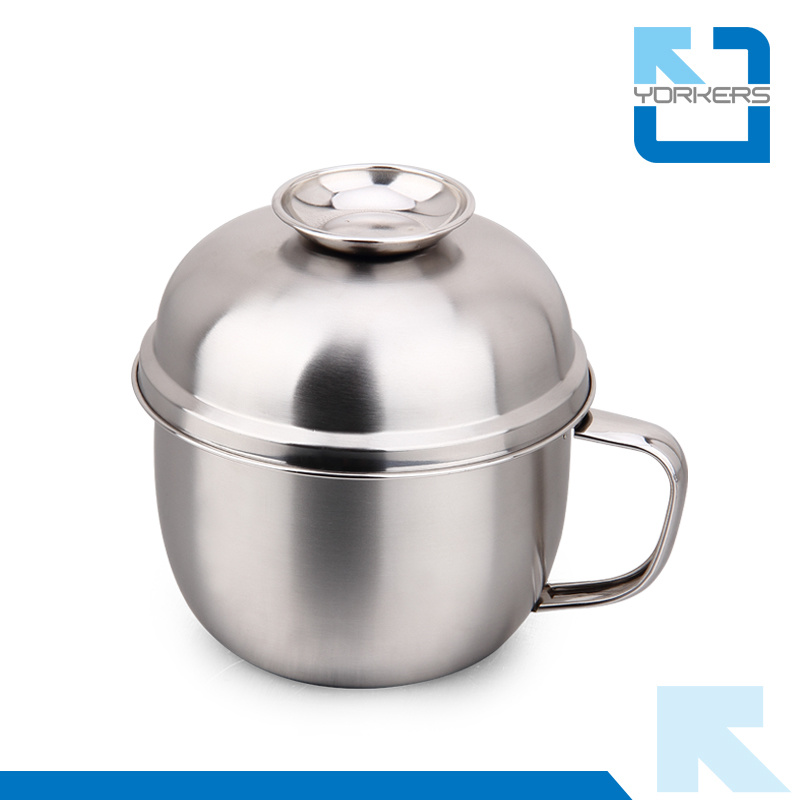 4dff65581679 [Hot Item] Double-Deck Portable Outdoor Stainless Steel Snack Container  Snack Food Cup