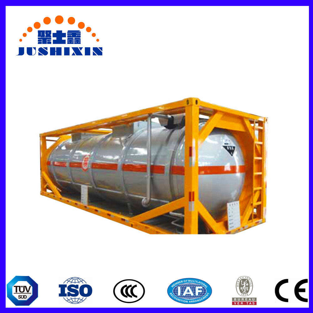 [Hot Item] T11/T14 ISO Food Grade Standard 20FT 40FT Water Tank Container,  ISO Tank Container