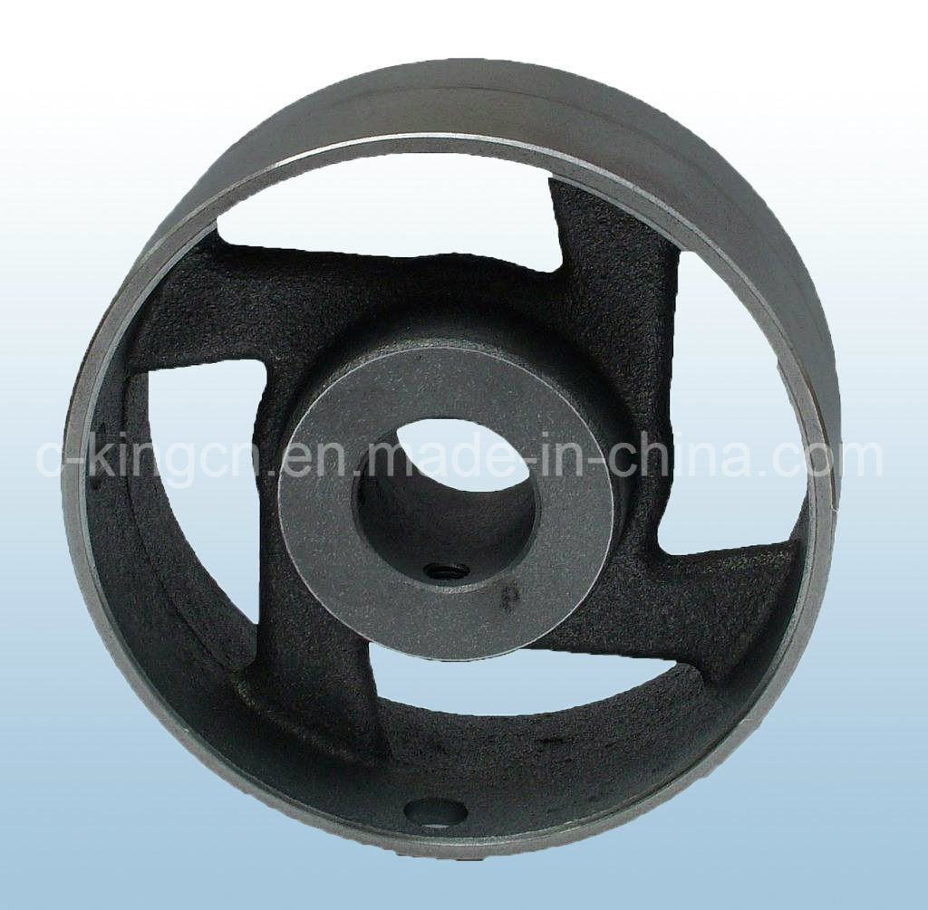 C-King Cast Iron Flat Belt Pulley pictures & photos