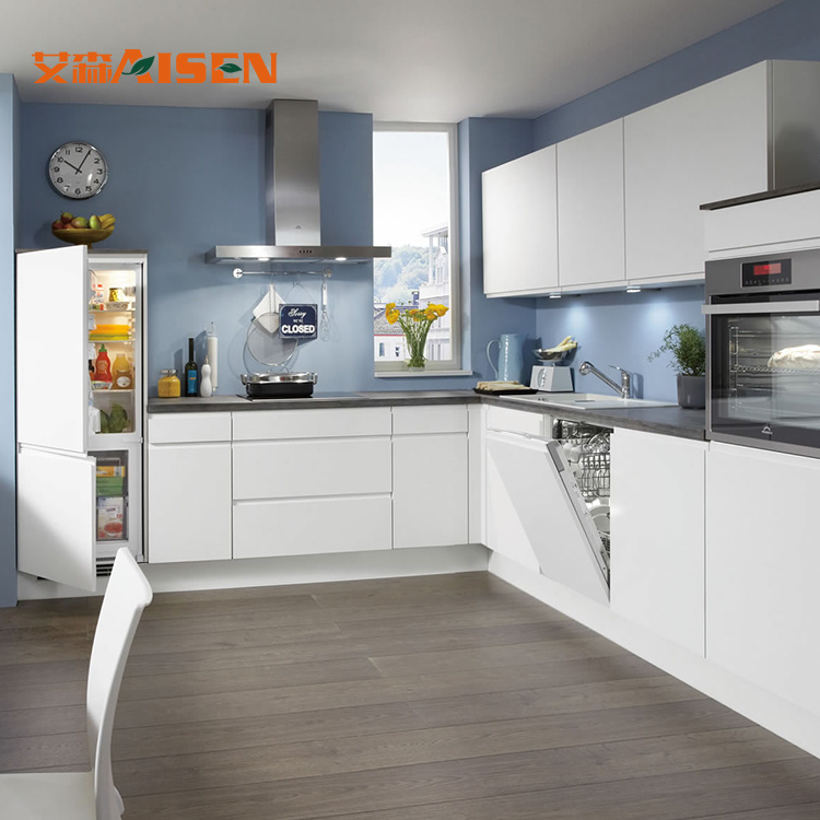 Hot Item L Shaped Modern Design Kitchen Cupboard