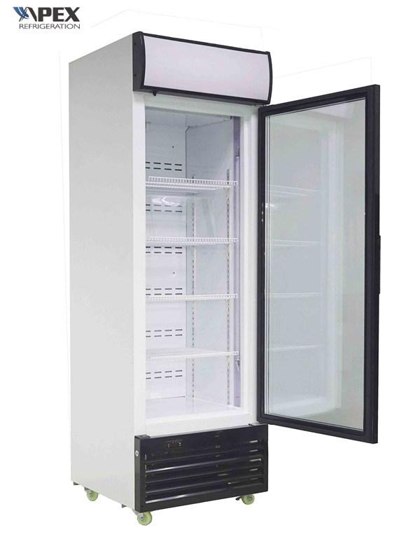 China Single Glass Door Upright Display Freezer China Single Door