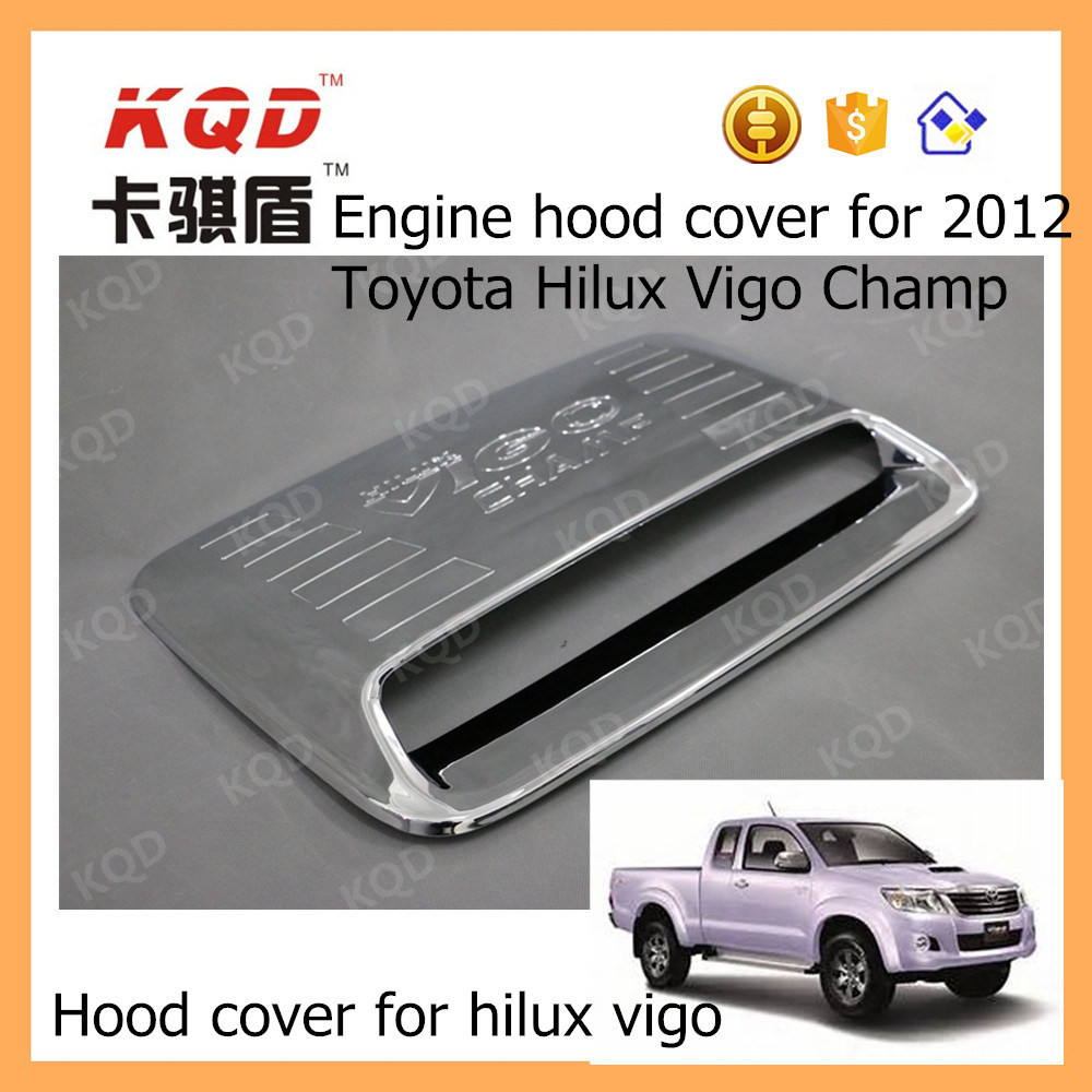 China Car Hood Vent Engine Accessories Cover For Hilux Vigo Rear Bumper Step Stainless Mobilio Plastic Scoop Toyota Parts