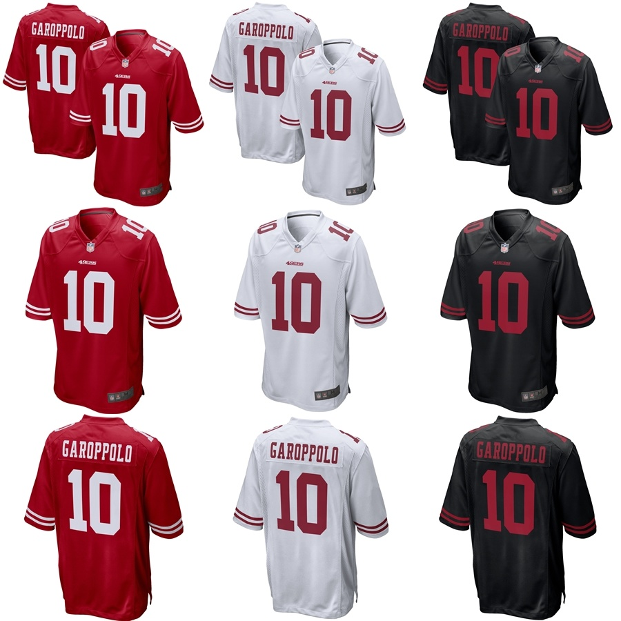 factory authentic 1d2cb 1da19 [Hot Item] 49ers Jimmy Garoppolo Red White Black Alternate Game Football  Jersey