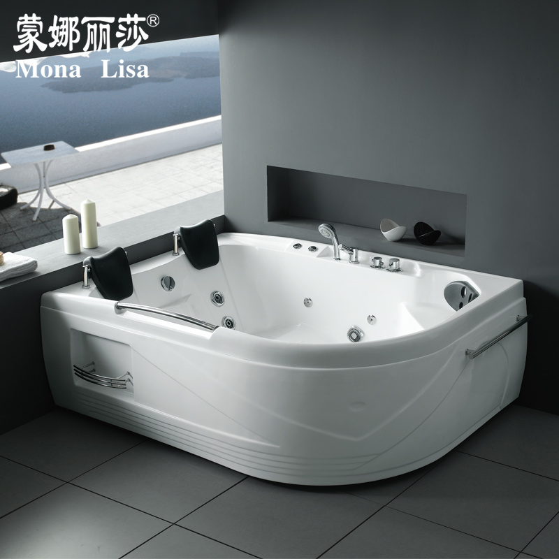 China Monalisa Hot Selling Two Person Whirlpool Corner Bathtub (M ...