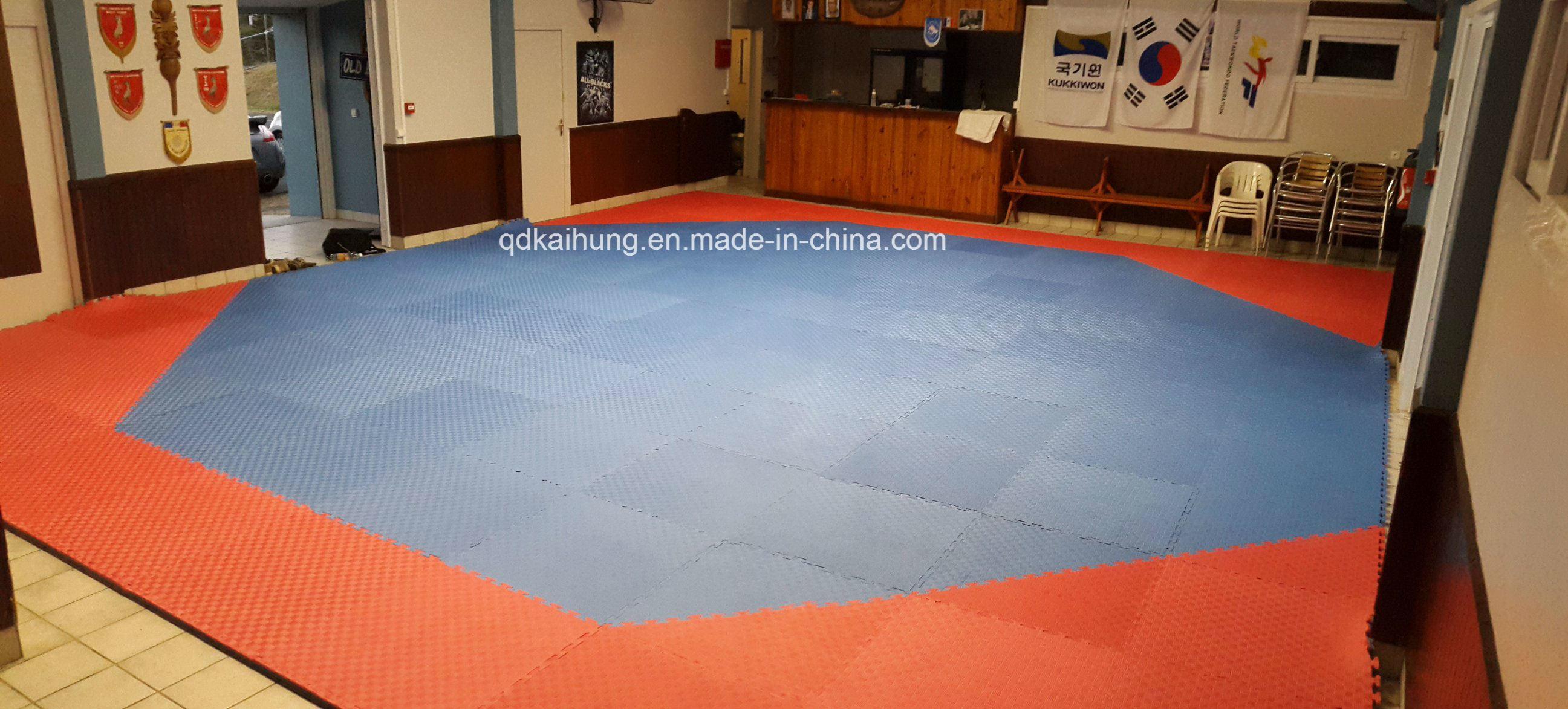 Octagonal Shape Martial Arts Floor Jigsaw Tatami Competition Mats