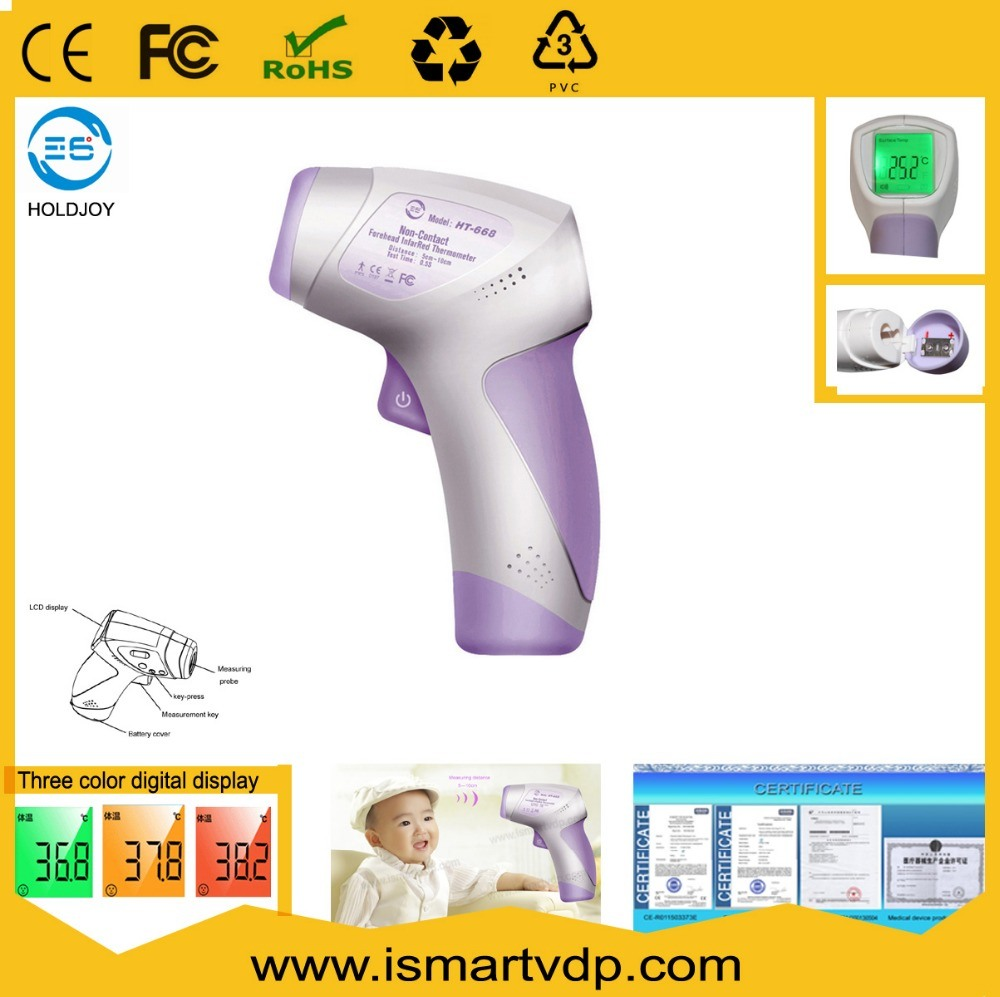 China New Baby Adult Digital Thermometer Multi Function Non Contact Infrared Forehead Body Gun For Kids Adu Thermo Meter Lcd Three Color