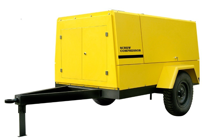 Mobile Air Compressor >> China 13bar Industrial Diesel Wheels Construction Mobile Air
