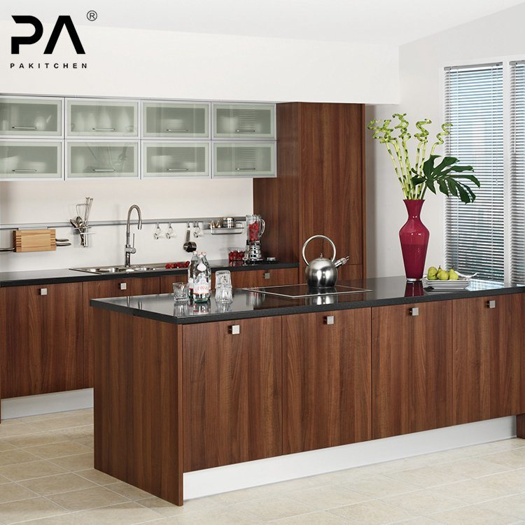 China Modern Standard Wood Grain Laminate Modular Kitchen Cabinet Design China Kitchen Cabinet Kitchen Furniture
