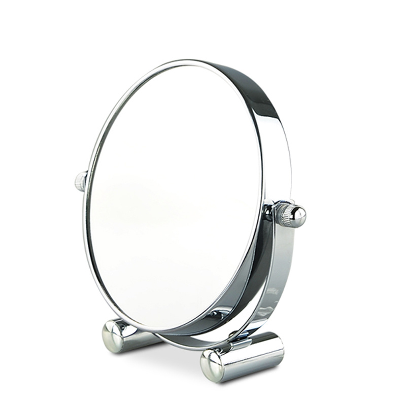 Hot Item Chrome Iron Double Sided Freestanding Makeup Mirror Small