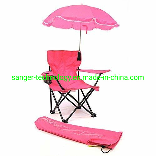 100169724a [Hot Item] Fashionable Hot Sales Red Color Kids Chair with Umbrella for  Girls, Folding Beach Chair for Children
