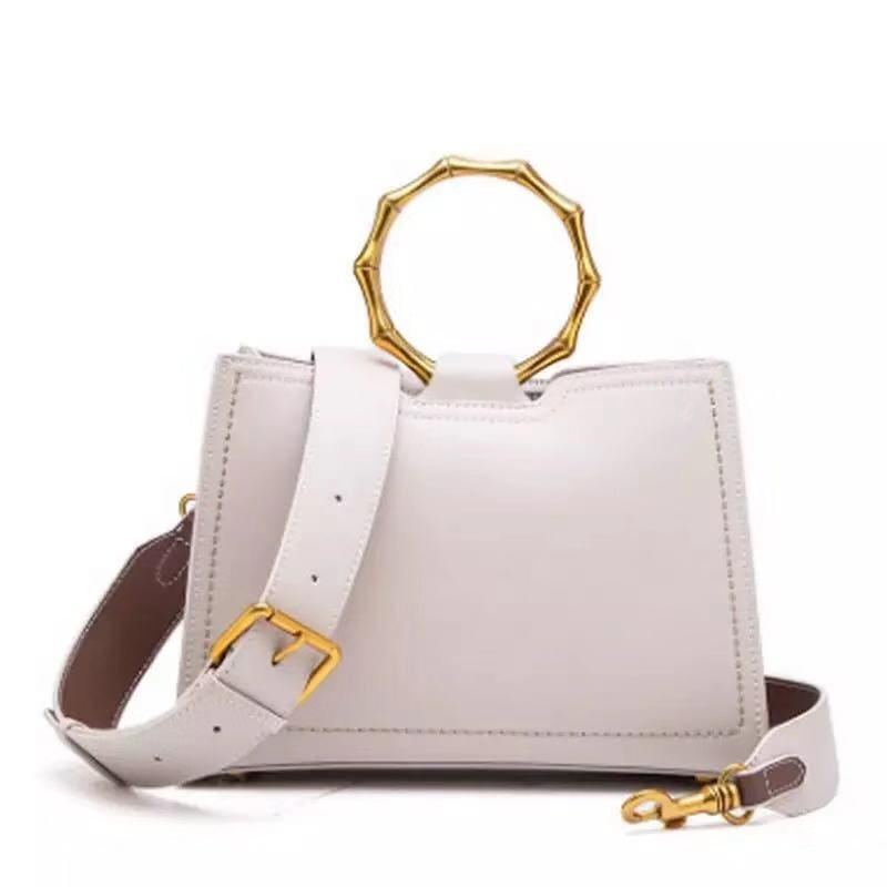 a73efc60b60 [Hot Item] Metal Bamboo Women Fashion Handbag 2019 Latest Crossbody Bags  Genuine Leatherhandbags