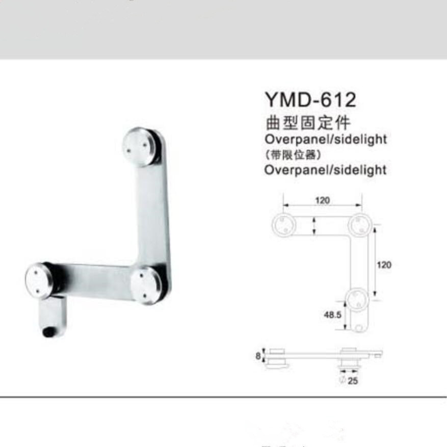 China Frameless Shower Accessories 304stainless Steel Glass Door