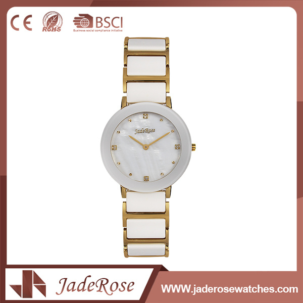 Fashion Round Dial Shape Stainless Steel Quartz Brand Watch