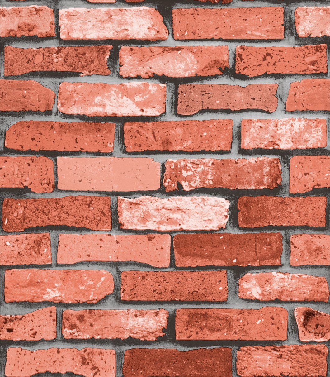 3d rustic red brick wallpaper