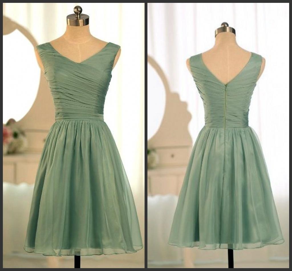 227d340f63c6 China Sage Green Cheap Bridesmaid Dress Fashion Vestidos Wedding Formal  Short Dresses Ld1161 - China Evening Dress, Bridesmaid Dress